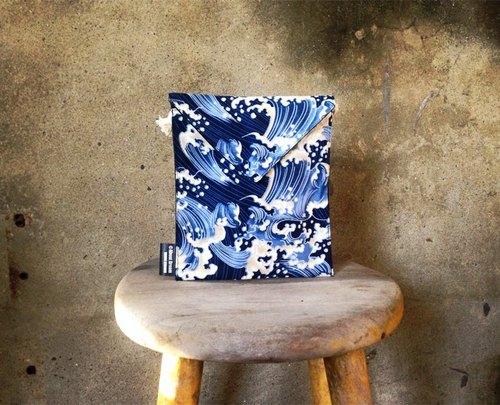 【側揹包/手機包/信封小包MINI Bag-日式經典浮世繪風格】