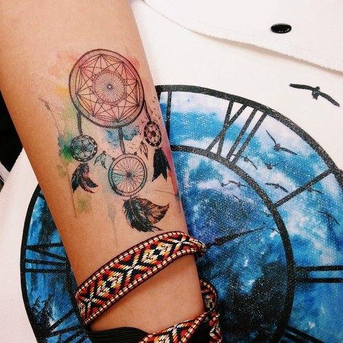 捕夢網 紋身貼紙(小)  (Dreamcatcher Tattoo Sticker)