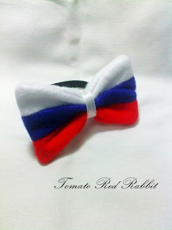 俄罗斯国旗蝴蝶结发圈