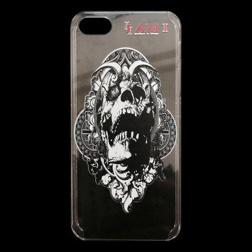 【手绘骷颅头】限量抢购iphone 5 透明壳-哈雷重机刺青手机壳,爱恩爱