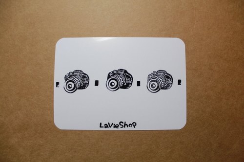 【LaVieShop*手作雜貨】相機排排站 Canon 單眼相機 550D.手工刻印明信片/卡片.高質感防水相紙
