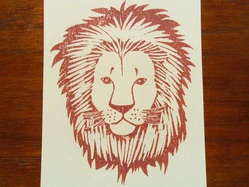 ポストカード(2枚) ライオン