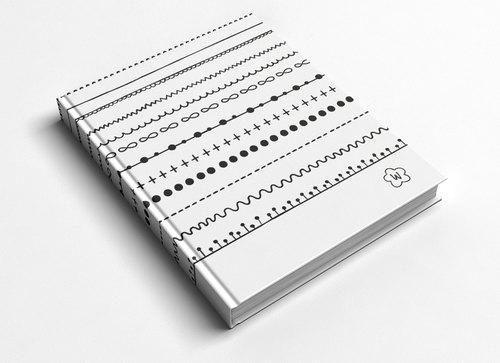 ° 洛可可草莓 welkin手创 °手工笔记本/手帐 -线条图片