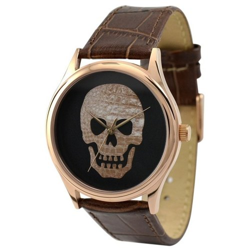 骷髅头手表(玫瑰金色2)