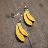 兩根香蕉耳環(一對)