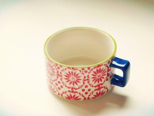 午茶乐~手绘复古花漾咖啡杯(送海洋系咖啡匙)