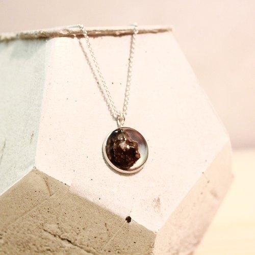 黑隕石/鋼鍊/項鍊