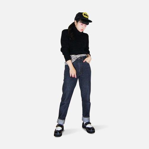 A‧PRANK :DOLLY :: 復古著VINTAGE品牌BIG JOHN黑色寬直筒牛仔褲