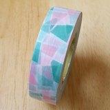 NICHIBAN Petit Joie Masking Tape 和紙膠帶【幾何-綠 (PJMT-15S010)】