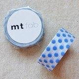 mt 和紙膠帶 fab 植絨系列【水玉款 白+藍(MTFL1P09)】