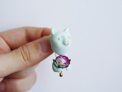 BIG HUG-flowerピアス/イヤリング[cat/5color]