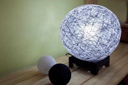 【黑白极简】手工编织球灯罩