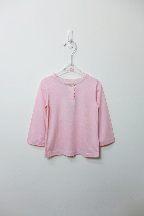 TroiZenfantS粉色星星棉質長袖上衣
