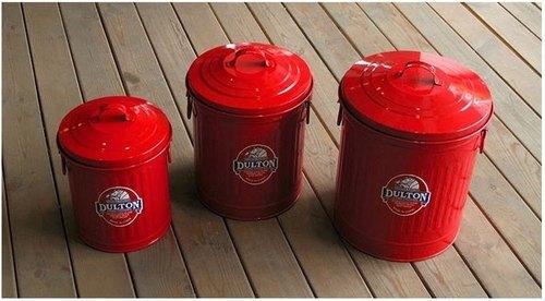 复古工业风 金属造型收纳桶/垃圾桶