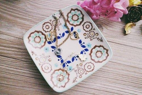 异国风的午茶时间*日本缤纷手绘捷克风景 蛋糕盘 咖啡碟子 首饰盘