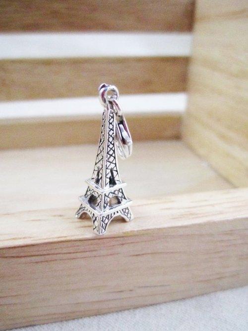 纯银吊饰《巴黎铁塔》