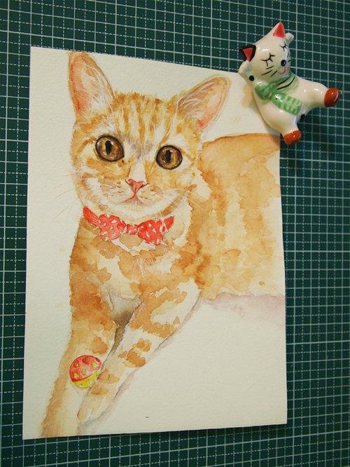 水彩单个动物肖像画 - 静好 | pinkoi