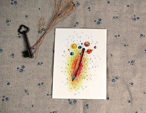 筆的小宇宙 Pen's planet明信片