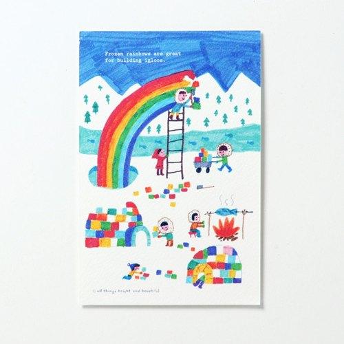 一起建做彩虹屋 明信片 Frozen rainbow Postcard