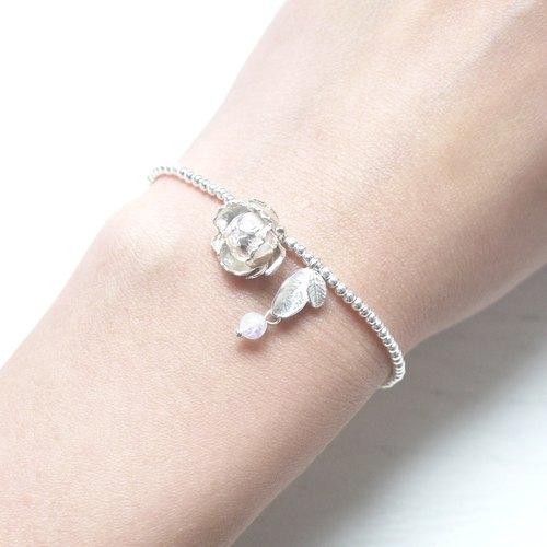 三层小银珠戒指编法