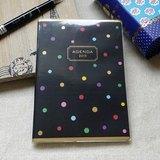amifa 2015 迷你手帳+筆記本【27815 彩色水玉點點-黑色】