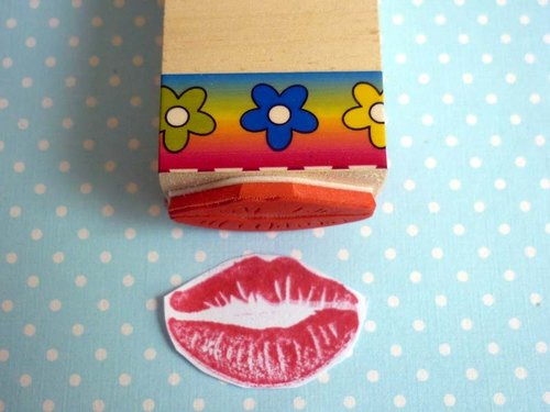 橡皮章 嘴唇印章