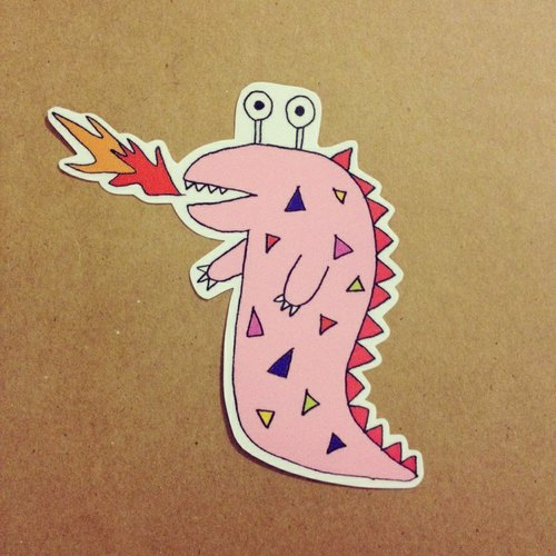 恐龙大贴纸 - 设计师 右手超人 | pinkoi