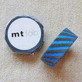 mt 和紙膠帶 fab 植絨系列【斜紋款 天空藍+灰(MTFL1P18)】