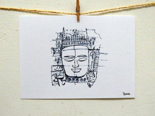 旅行/ 柬埔寨 巴戎寺/ 卡片 明信片