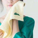 一座綠山溫暖厚絨鵝黃毛巾 ✫