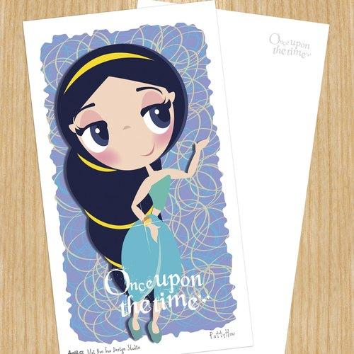 賣腦瓜小公主系列明信片 - 茉莉公主Jasmine