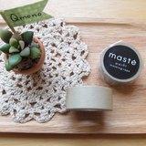 maste Masking Tape 和紙膠帶 Basic 復古暖色系【煙燻灰 (MST-MKT04-GY)】