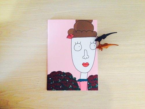 ✿Macaron TOE 馬卡龍腳趾✿ 玫瑰園中的包夫人 /馬卡龍腳趾A5空白筆記本