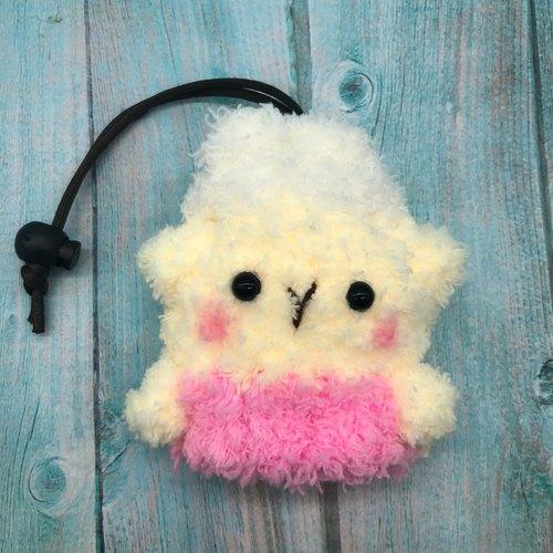 棉花糖动物钥匙包-小钥匙包(小羊咩咩)