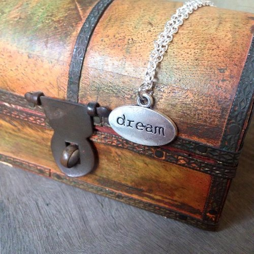【Story Necklace 故事項鍊】Dream橫式仿鐵牌