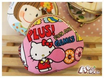 hellokitty 豆子粘贴画-粉嫩Hello Kitty 8cm半圆口金 材料包 阿布豆 A Bu Dou