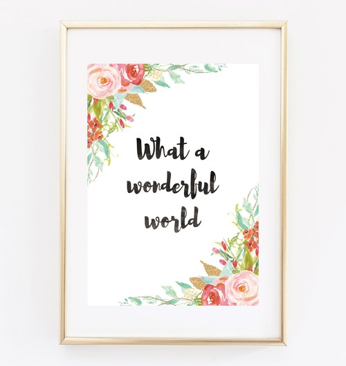 what a wonderful world 可客製化 掛畫 海報