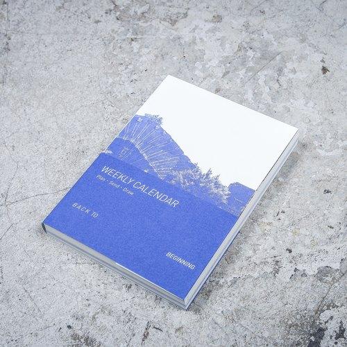 藍晒圖萬年曆手帳本