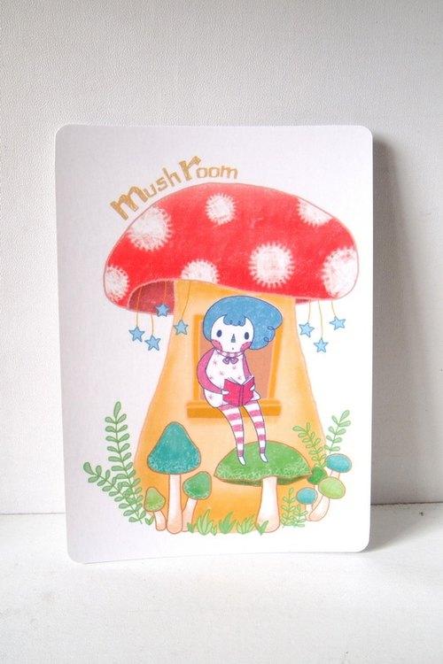 《蘑菇屋》明信片