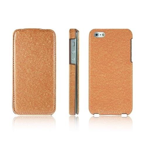 Optima iPhone 5/5s/SE 絲綢系列下掀皮套 橘