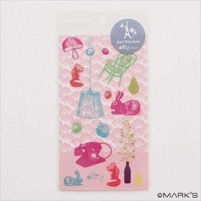 Marks Art Sticker 藝術裝飾貼紙 (兔子 LZC-ST1-PK)