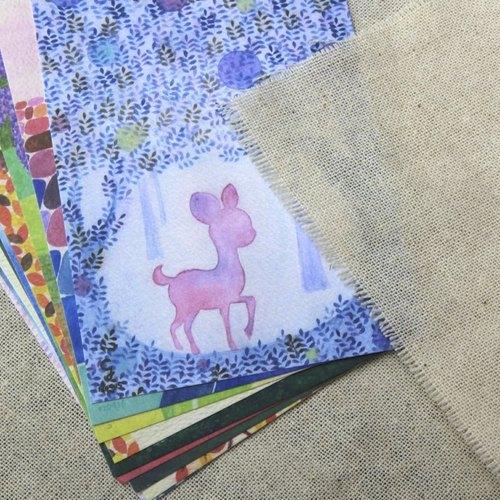 """克里斯多明信片套组-""""和森林里的小动物一起去野餐!"""