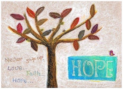 希望之树蜡笔画作 - spinoso 的插画森林 | pinkoi