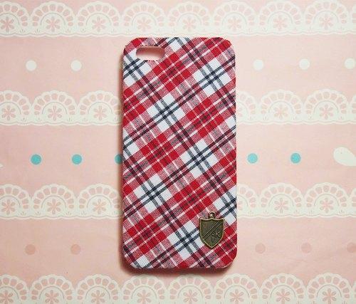 布藝 英倫紅格紋手機殼 保護殼  紅米 小米 M1  M1s M2  M2s M3 Sony Xperia X XA Ultra Z5 Z4 mini