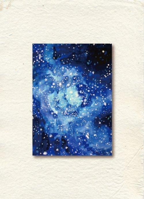盛開的星夜Star Sky明信片