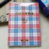 amifa 2015 迷你手帳+筆記本【27853 紅藍格紋】