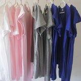 加一件:最舒服的內搭 ✦ 軟軟100%純綿t-shirt ✦ (四色:粉紅/麻花灰色/海藍)