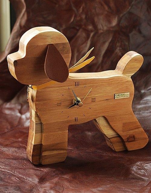 【CHIC DOG】時刻伴侶~集成柚木桌/掛鐘