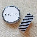 mt 和紙膠帶 fab 植絨系列【斜紋款 黑+灰(MTFL1P14)】