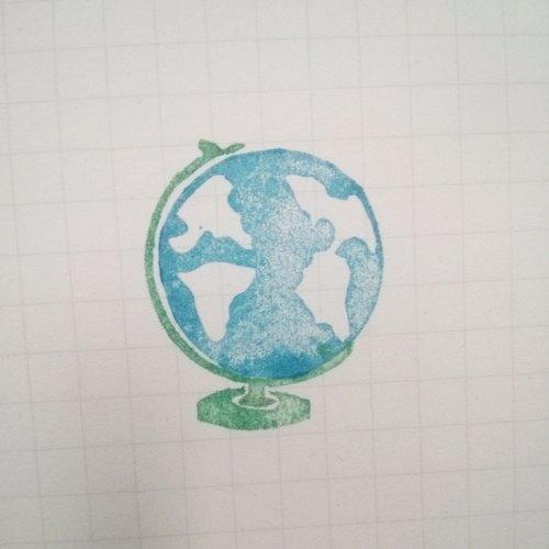 地球仪手工印章 - tything